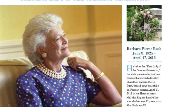 "Fall 2018 Newsletter: ""First Lady of the Greatest Generation"""
