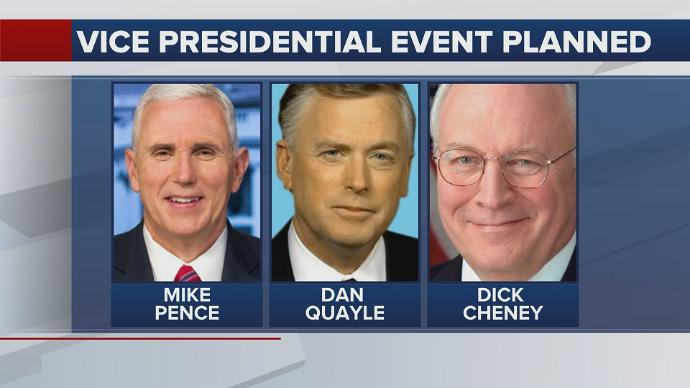KBTX: Vice President Pence, Quayle and Cheney to attend private event at Texas A&M