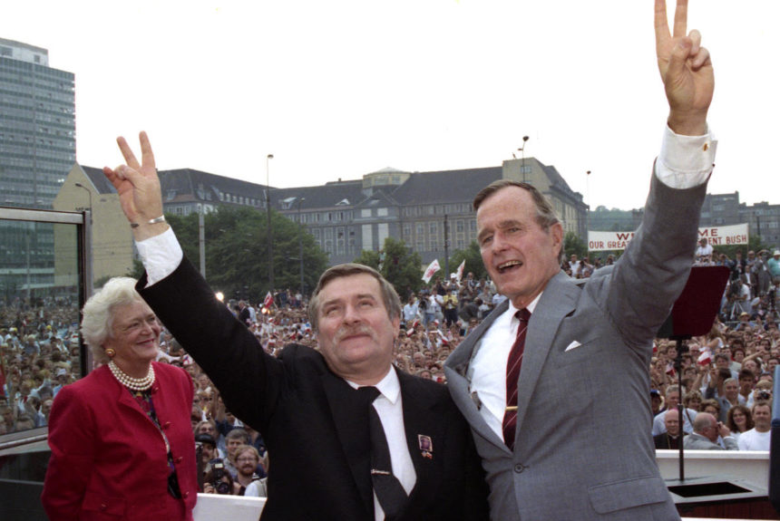 "July 1989: Historic Visit to Poland and Hungary ""A Western Vision of the Future"""