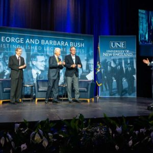 Bill Clinton, Jeb Bush Pine for Bygone Civility at University of New England in Maine