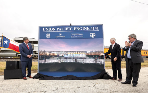 Texas A&M Today: Union Pacific 4141 To Be Permanently Displayed At Bush Library