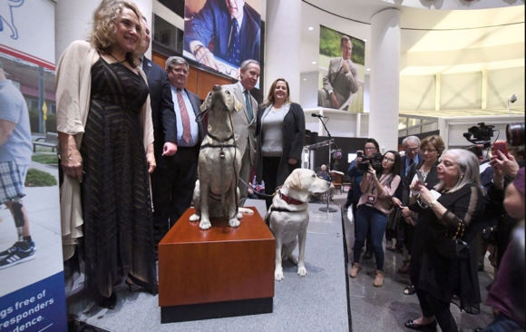 The Eagle: LOYAL COMPANION – Statue of Sully, Bush's service dog, unveiled at presidential museum