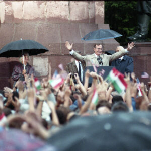 Statue Dedication in Hungary to Honor President George H. W. Bush