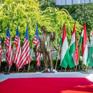 Statue of President George H.W. Bush Unveiled in Budapest