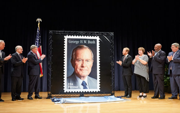 CNN: US Postal Service reveals new stamp honoring President George H.W. Bush